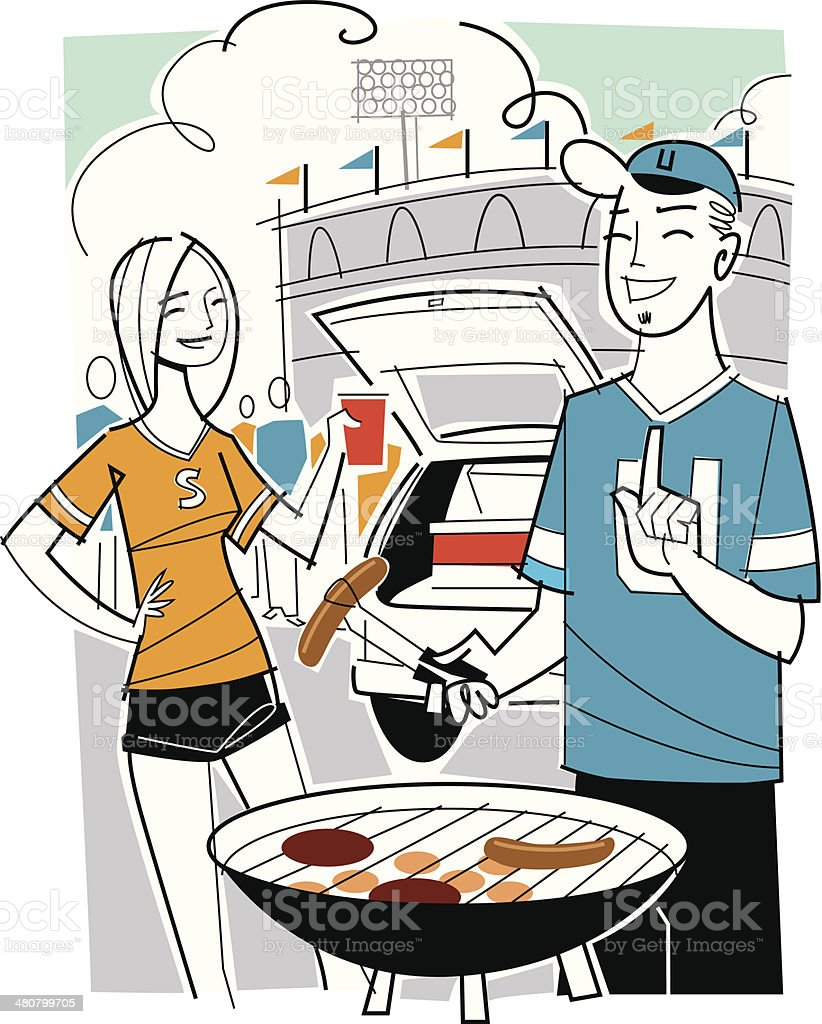 Tailgate Party3 C vector art illustration
