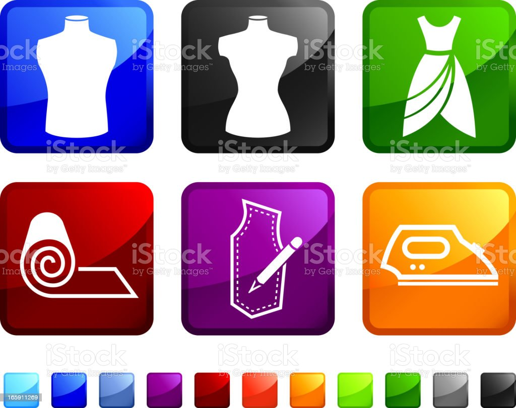 Tailor and Fashion Designer royalty free vector icon set stickers royalty-free stock vector art
