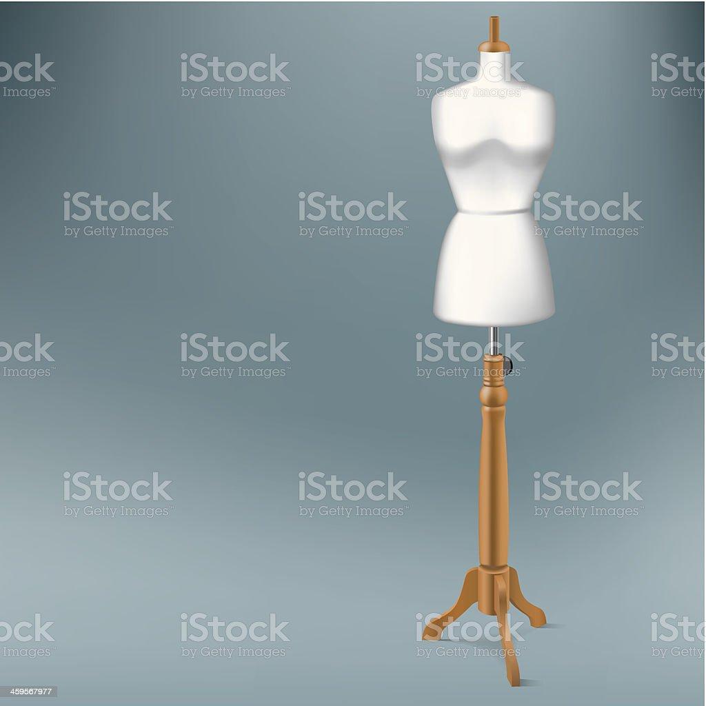 tailor dummy vector art illustration