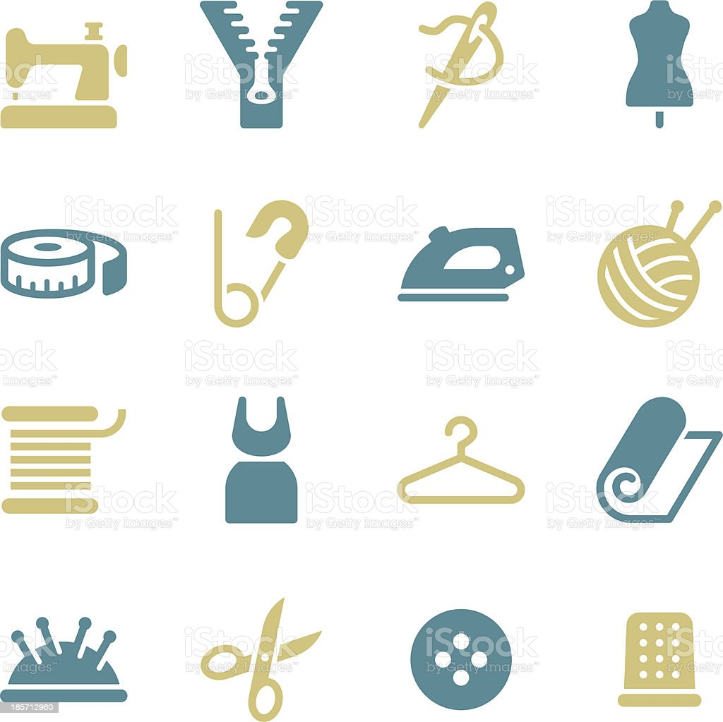 Tailor Icons - Color Series vector art illustration