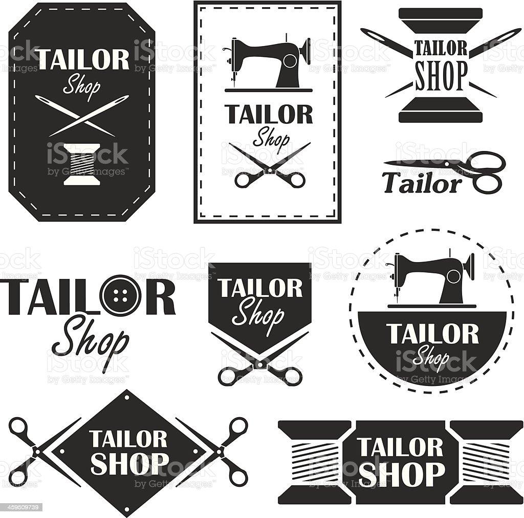 Tailor shop vector art illustration