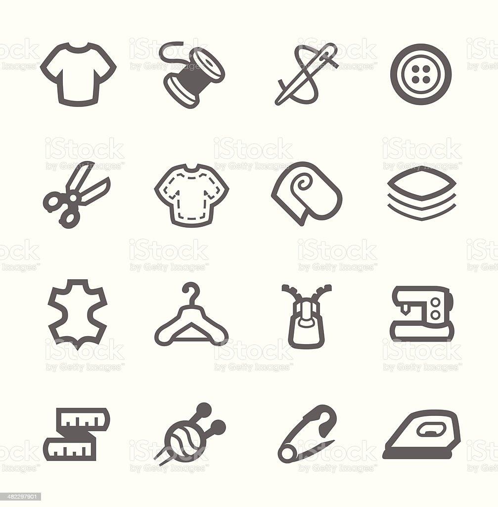 Tailoring icons vector art illustration