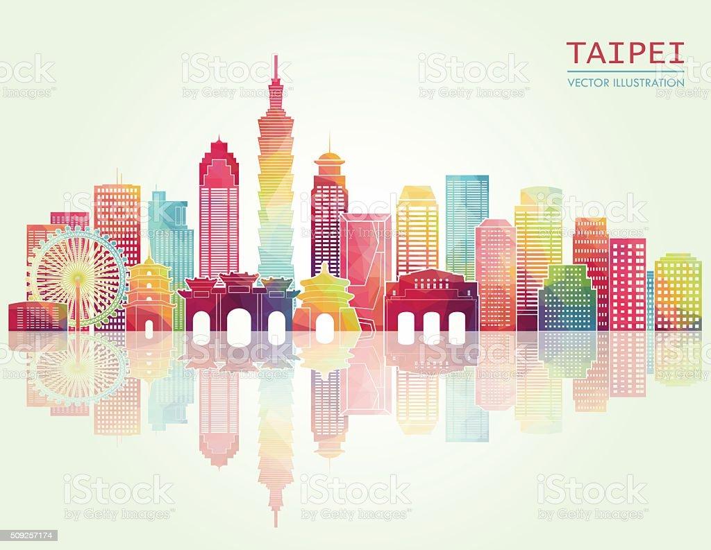 Taipei skyline. Vector illustration vector art illustration