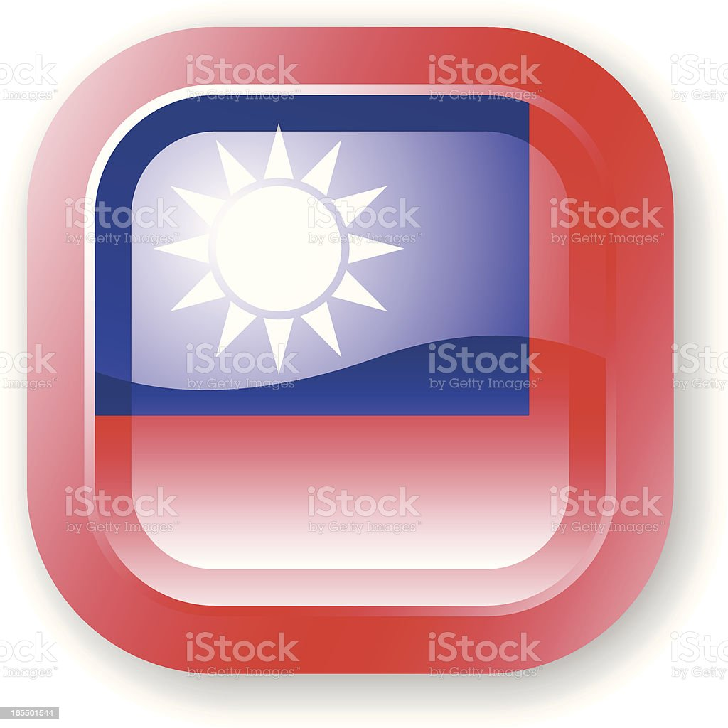 Taiwan Flag Icon royalty-free stock vector art