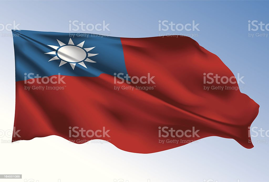 Taiwan flag royalty-free stock vector art