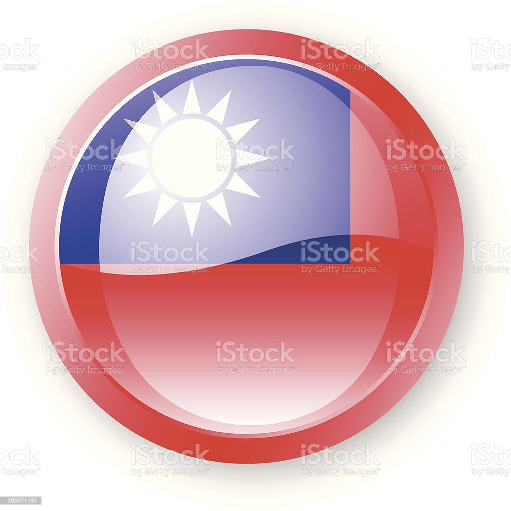 Taiwanese Flag Icon royalty-free stock vector art