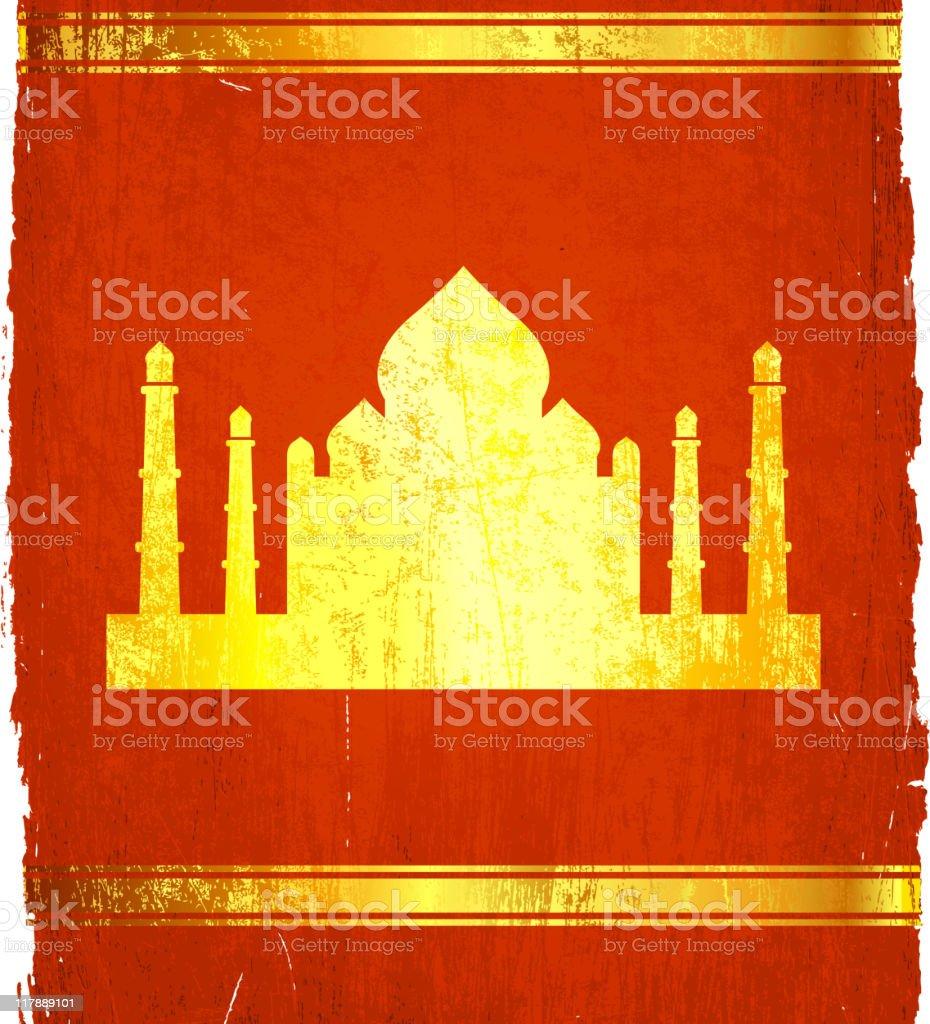 Taj Mahal on royalty free vector Background royalty-free stock vector art