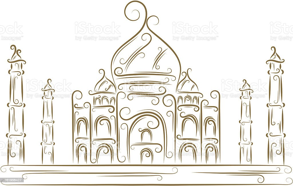 Taj Mahal royalty-free stock vector art