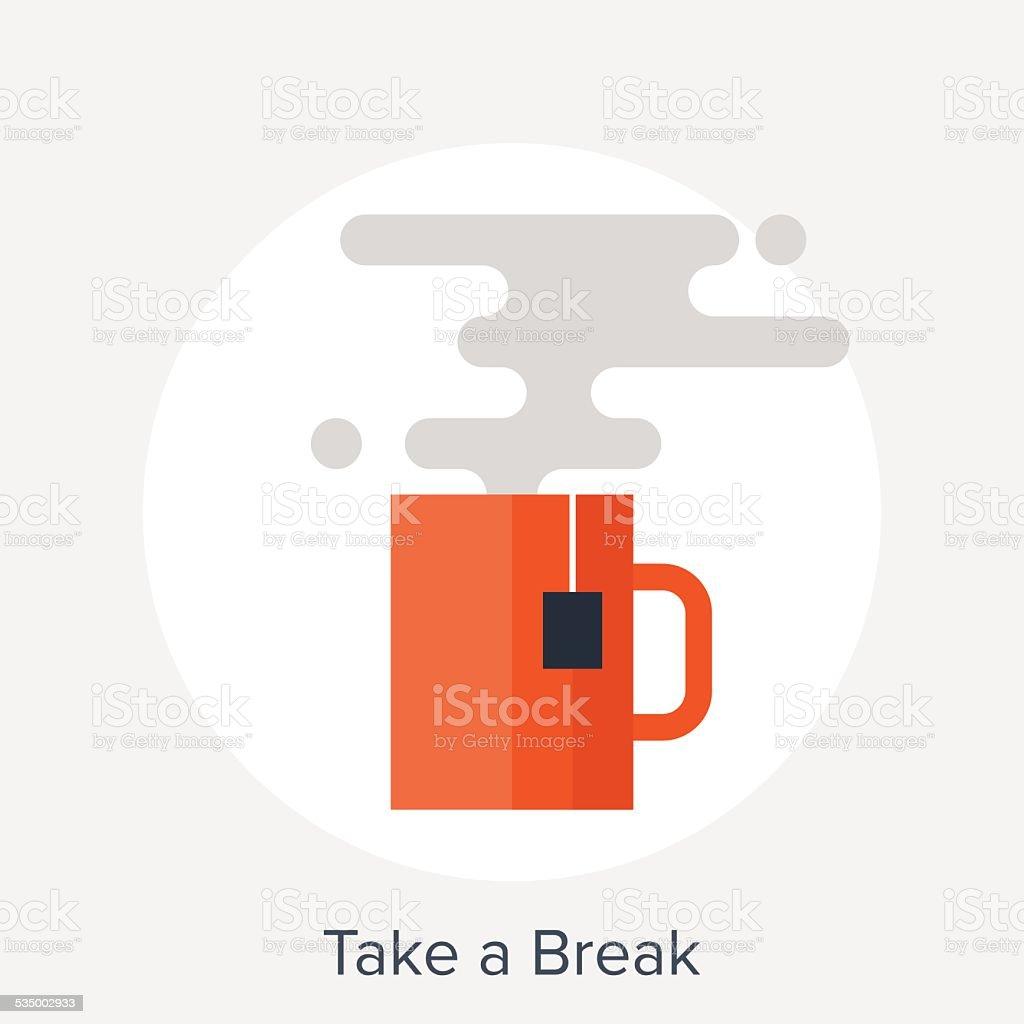 Take a Break vector art illustration