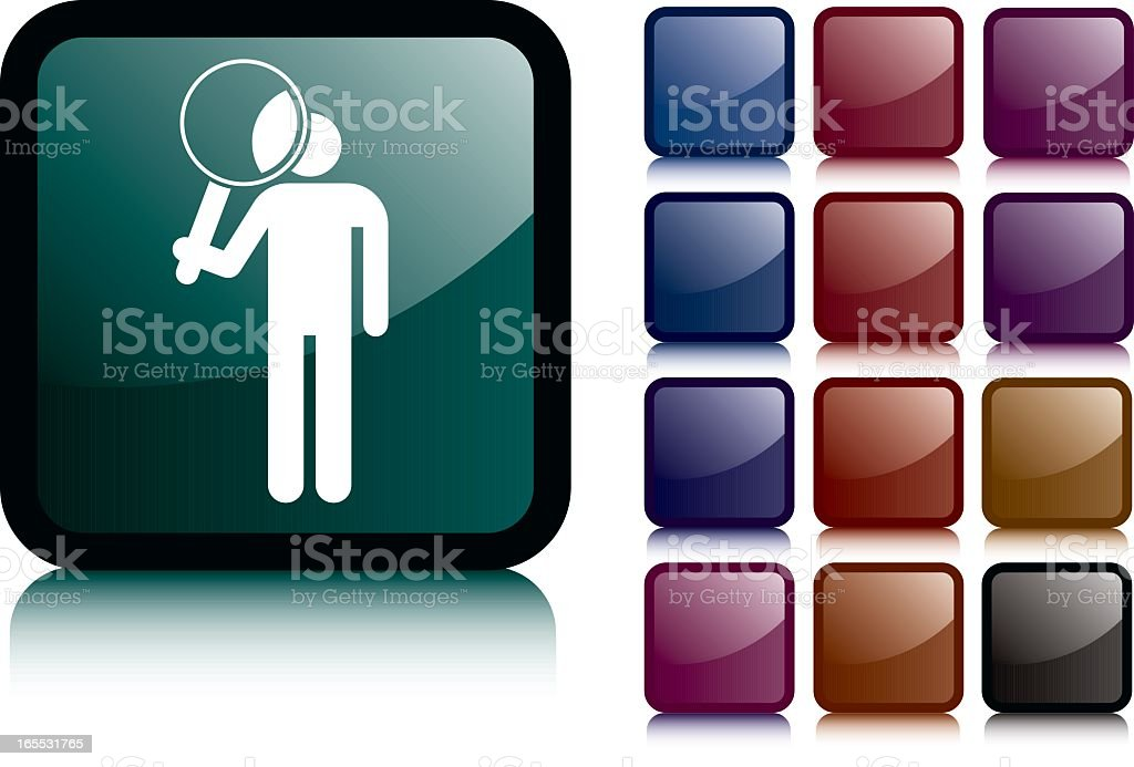 Take a Closer Look Icon royalty-free stock vector art