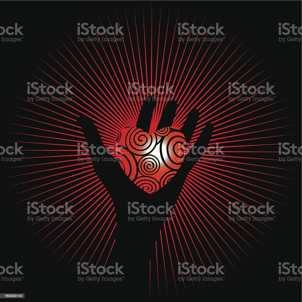 Take my heart royalty-free stock vector art