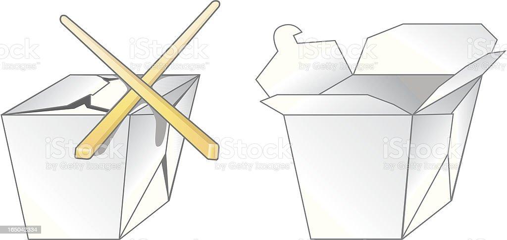 Take Out Carton vector art illustration
