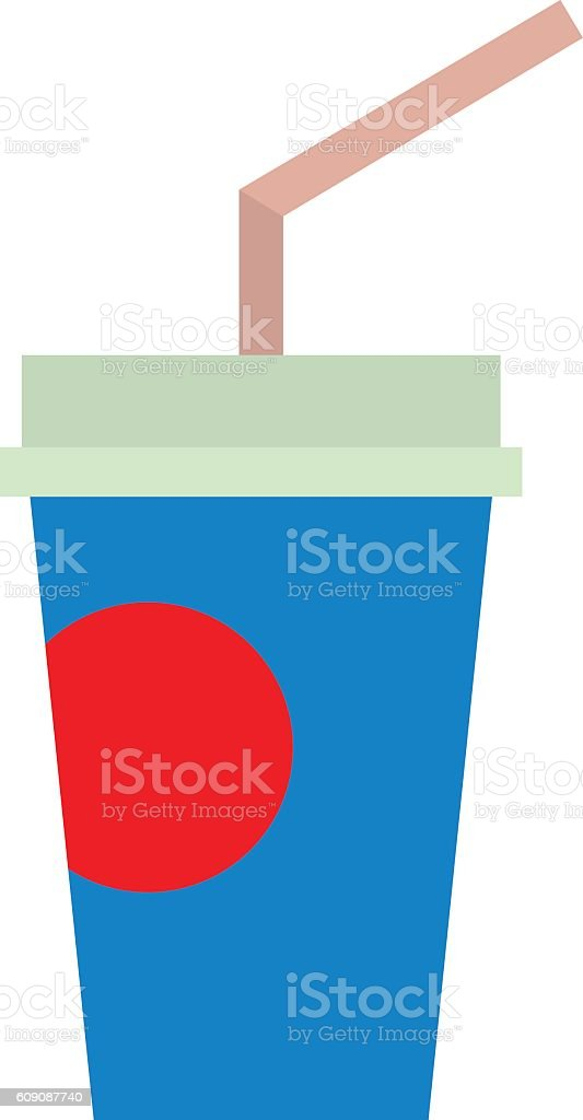 Take out drink cup vector art illustration