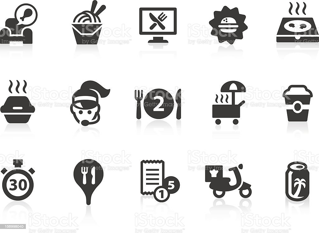 Take Out Food icons royalty-free stock vector art