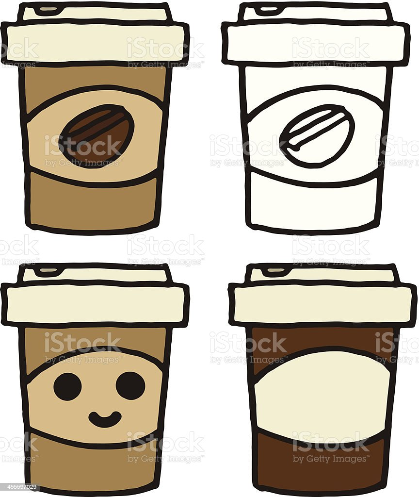 Takeaway coffee vector art illustration