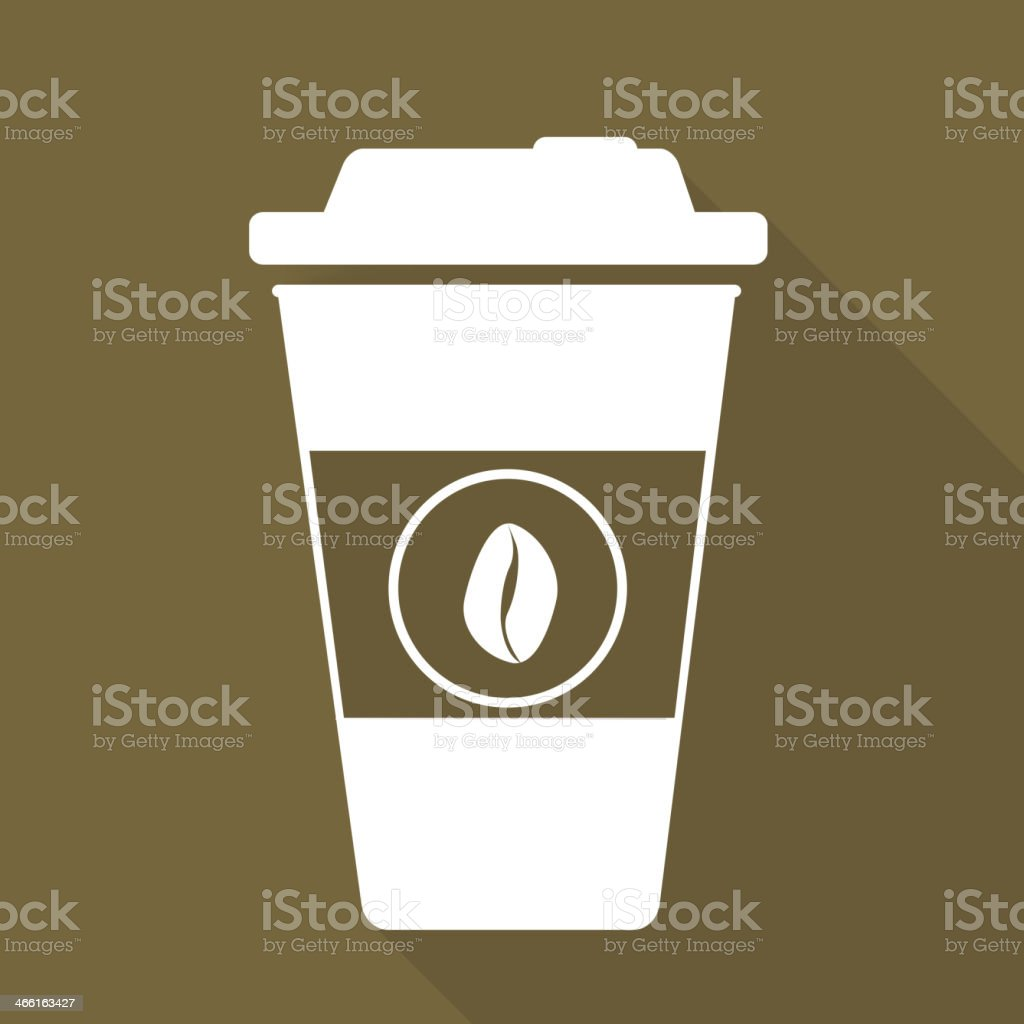Takeaway paper coffee cup ico royalty-free stock vector art