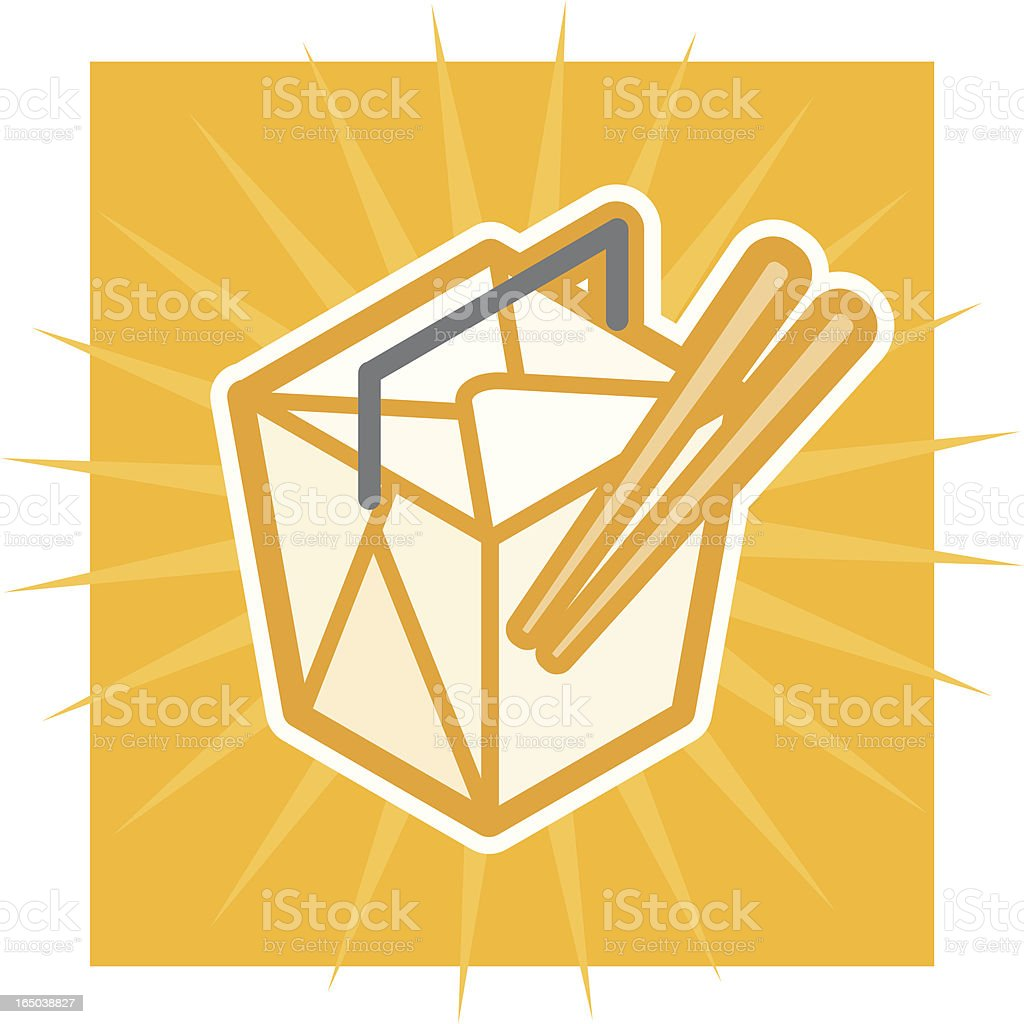 takeout box royalty-free stock vector art