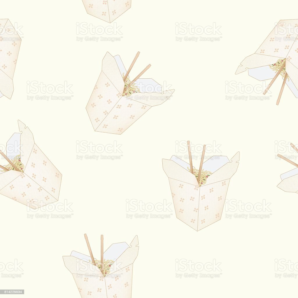 Takeout Pattern vector art illustration