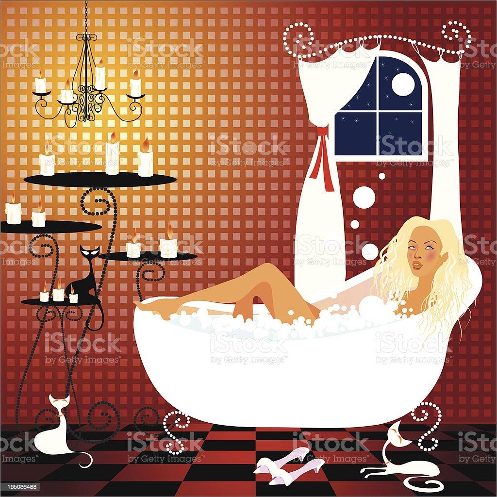 taking a bath royalty-free stock vector art