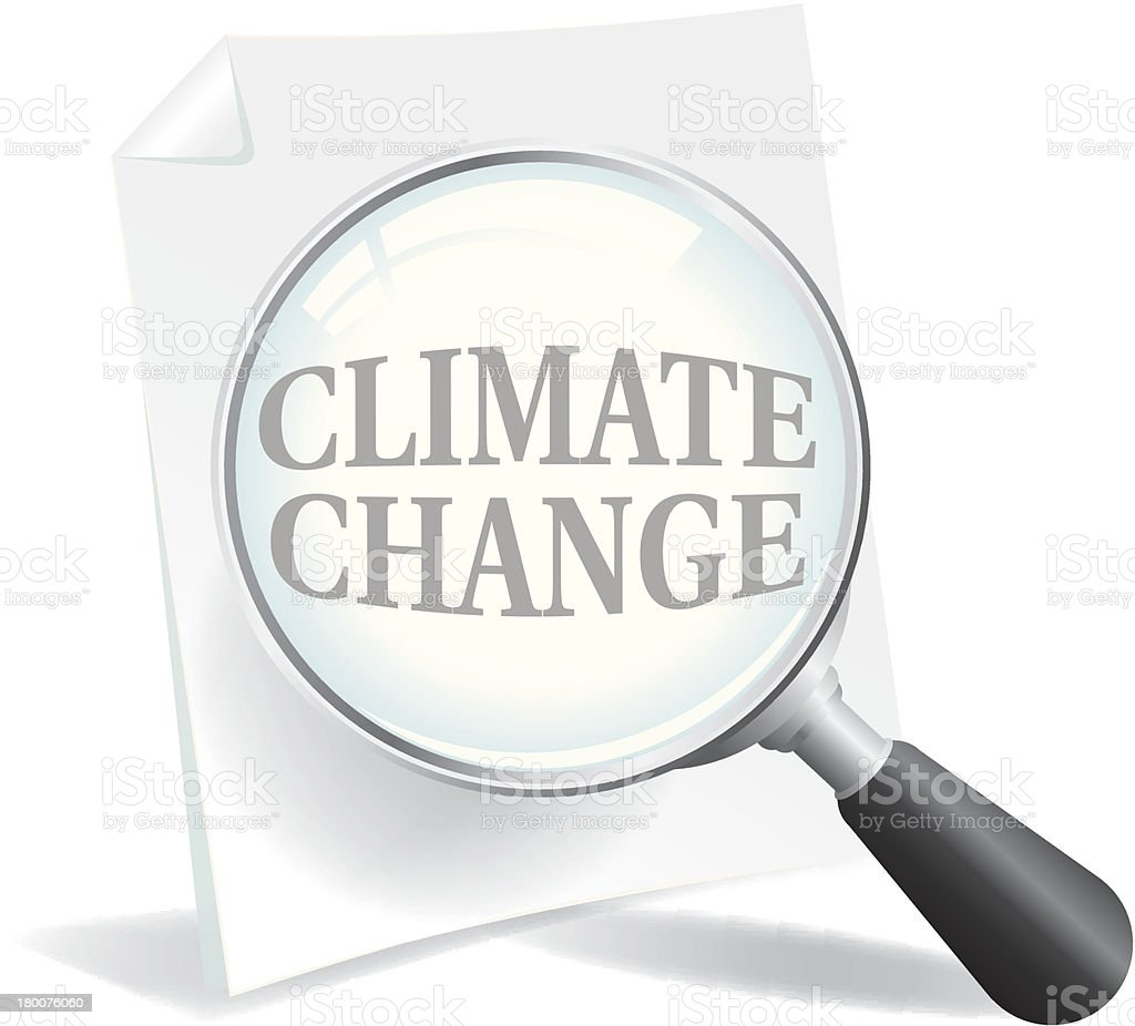 Taking a Closer Look at Climate Change and Global Warming royalty-free stock vector art