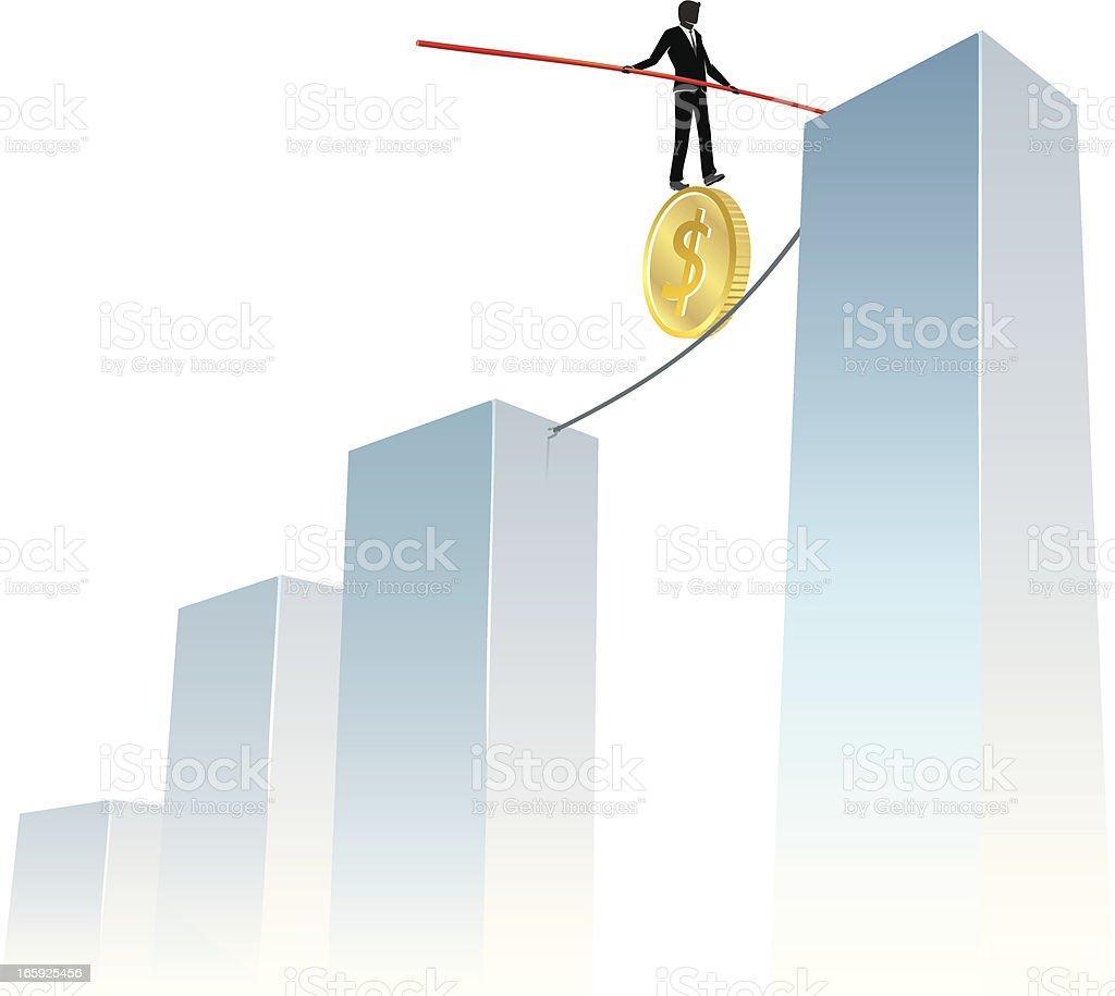 Taking Business Risks vector art illustration