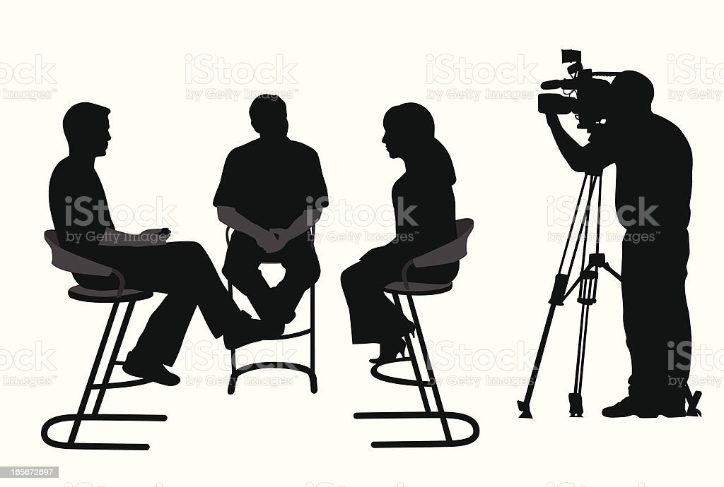 Taking Video Vector Silhouette royalty-free stock vector art