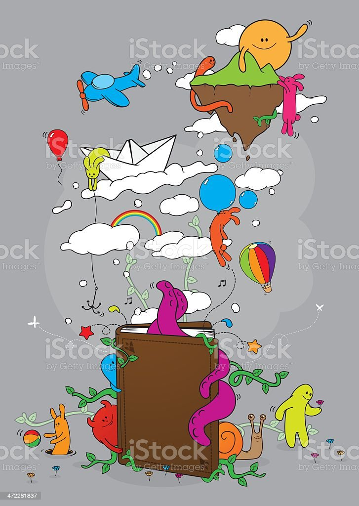 Tale book royalty-free stock vector art