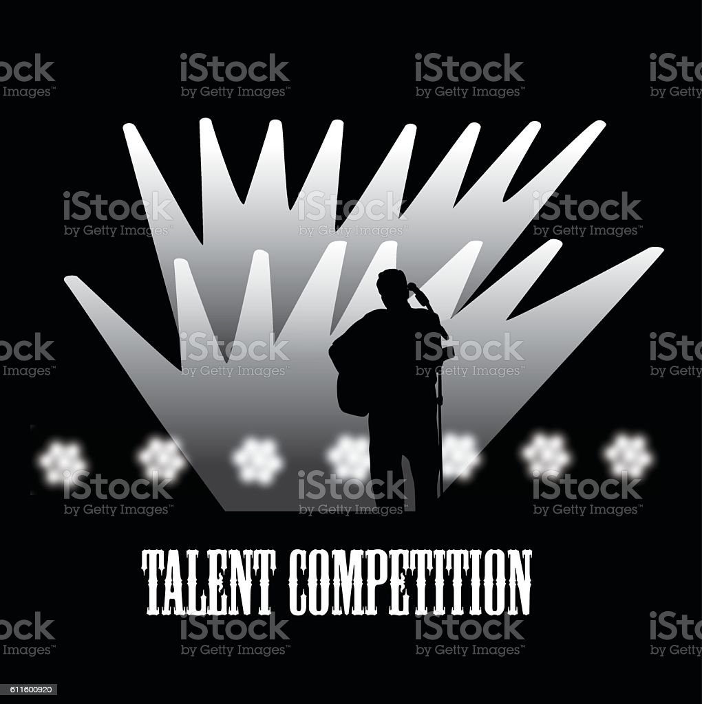 Talent Competition Vector Silhouette vector art illustration
