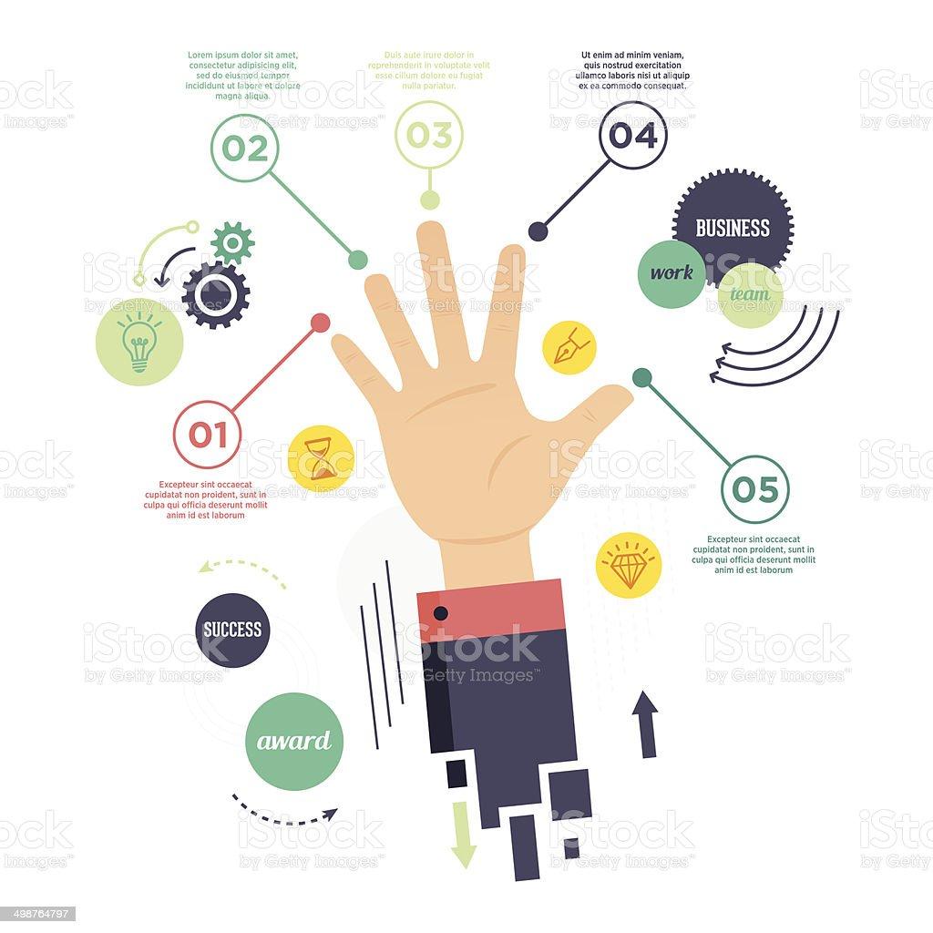 Talent List Infographic vector art illustration