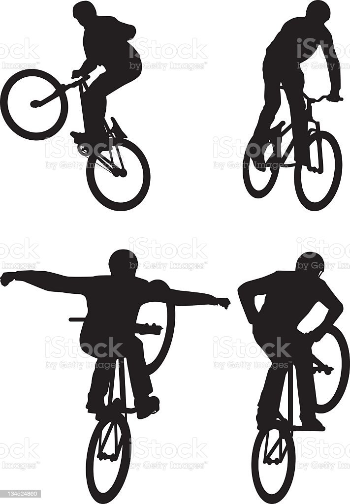 talented cyclist vector art illustration