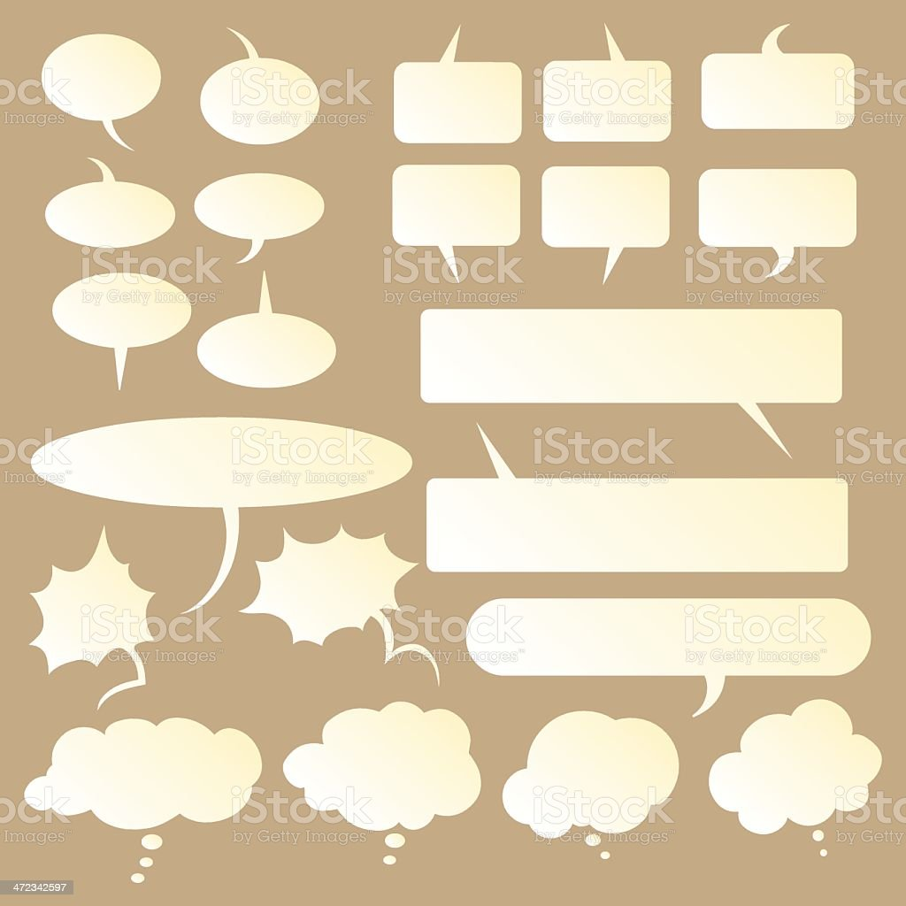 Talk and think vector gradient bubbles vector art illustration