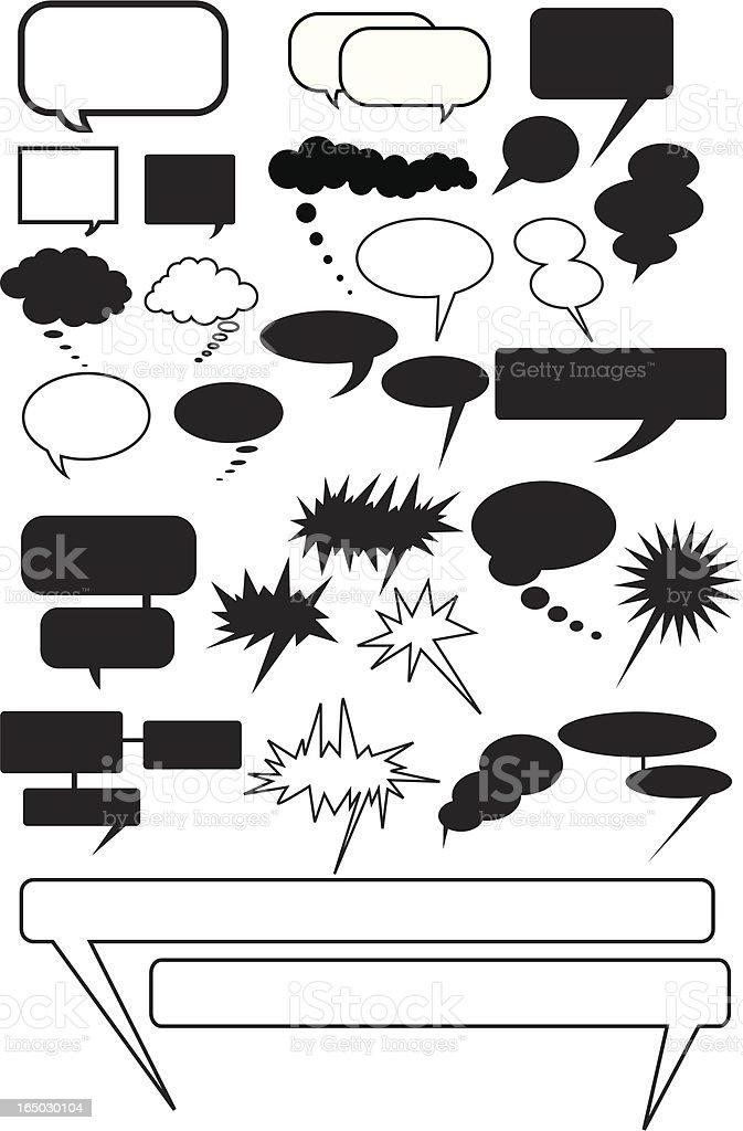 Talk Bubbles ( Vector ) royalty-free stock vector art