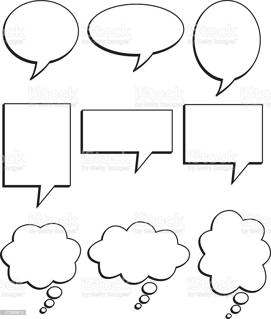 Talk Bubbles vector art illustration