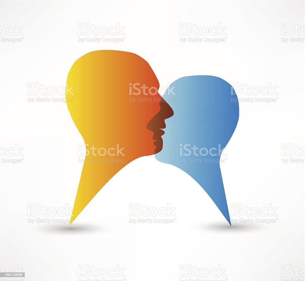Talk me concept speech bubbles royalty-free stock vector art