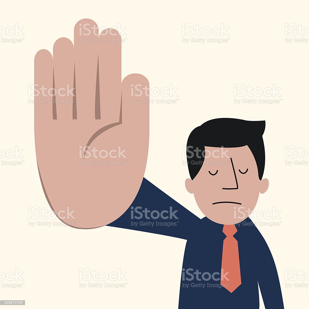 Talk to the hand man vector art illustration