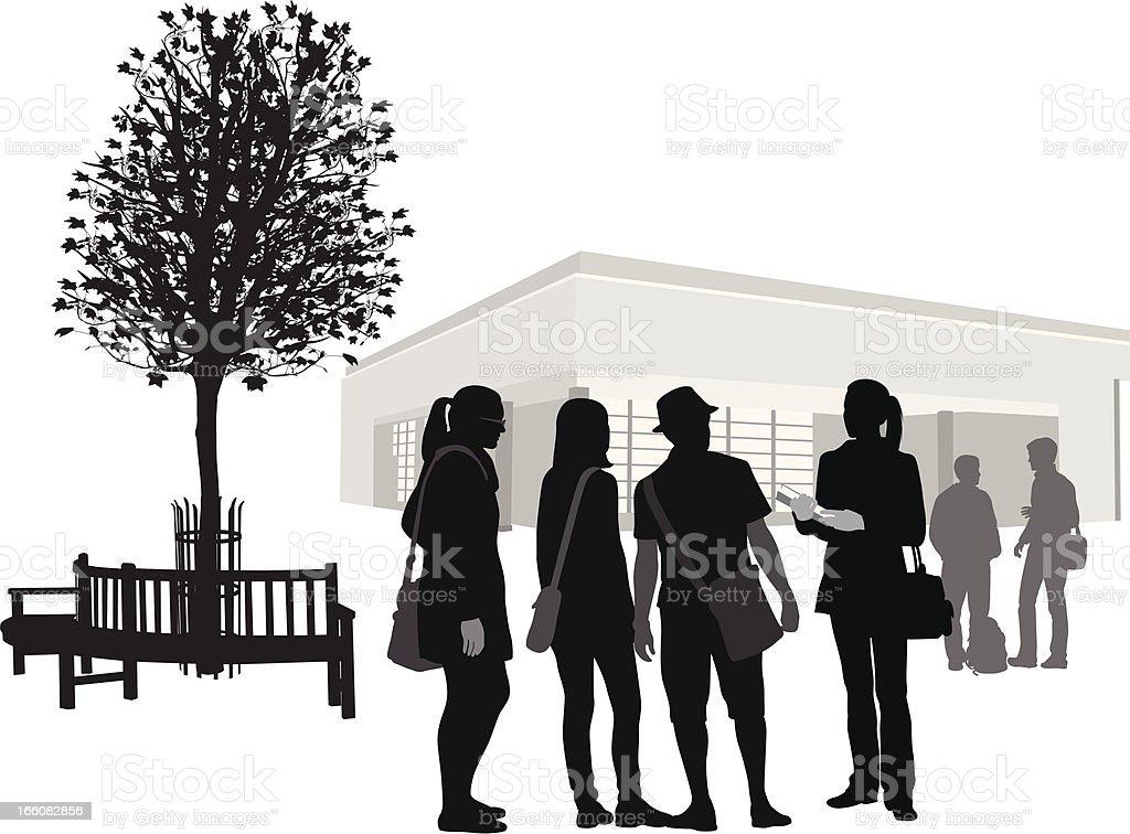 Talk Vector Silhouette royalty-free stock vector art