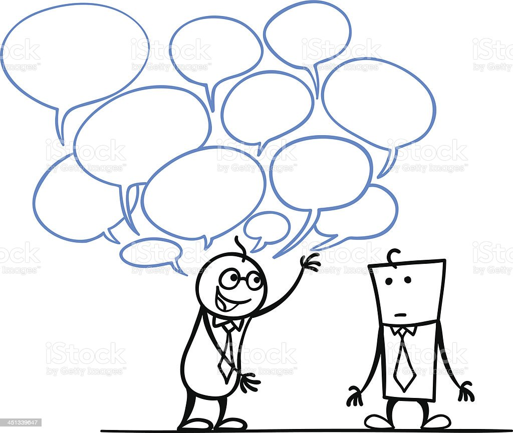 Talkative Person vector art illustration