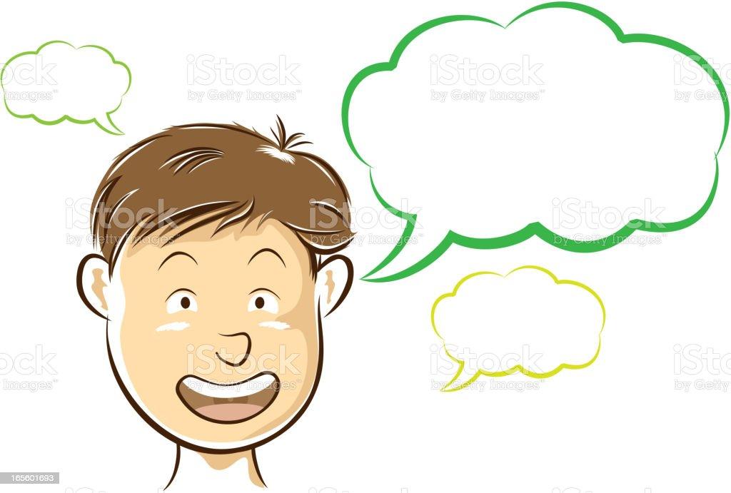 Talkative royalty-free stock vector art