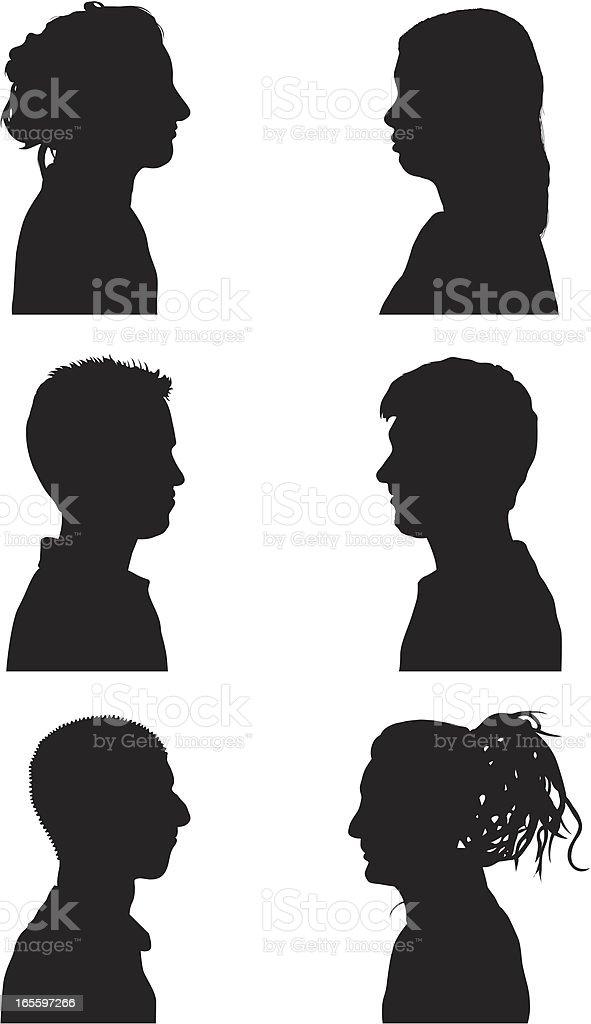 Talkers vector art illustration