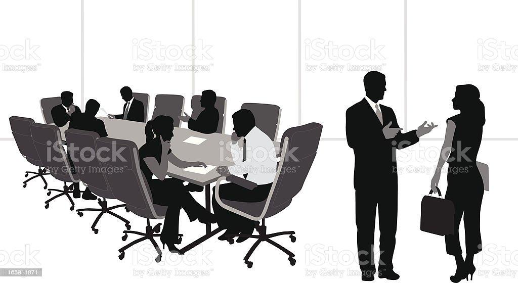 Talkin' Business Vector Silhouette vector art illustration
