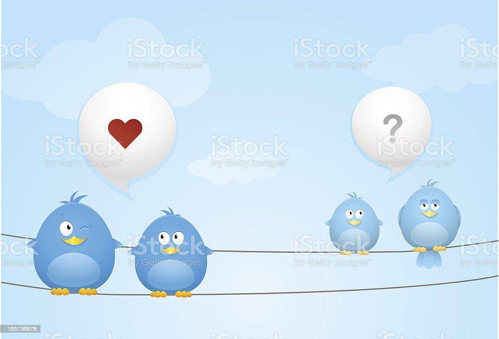 Talking Birds Background royalty-free stock vector art