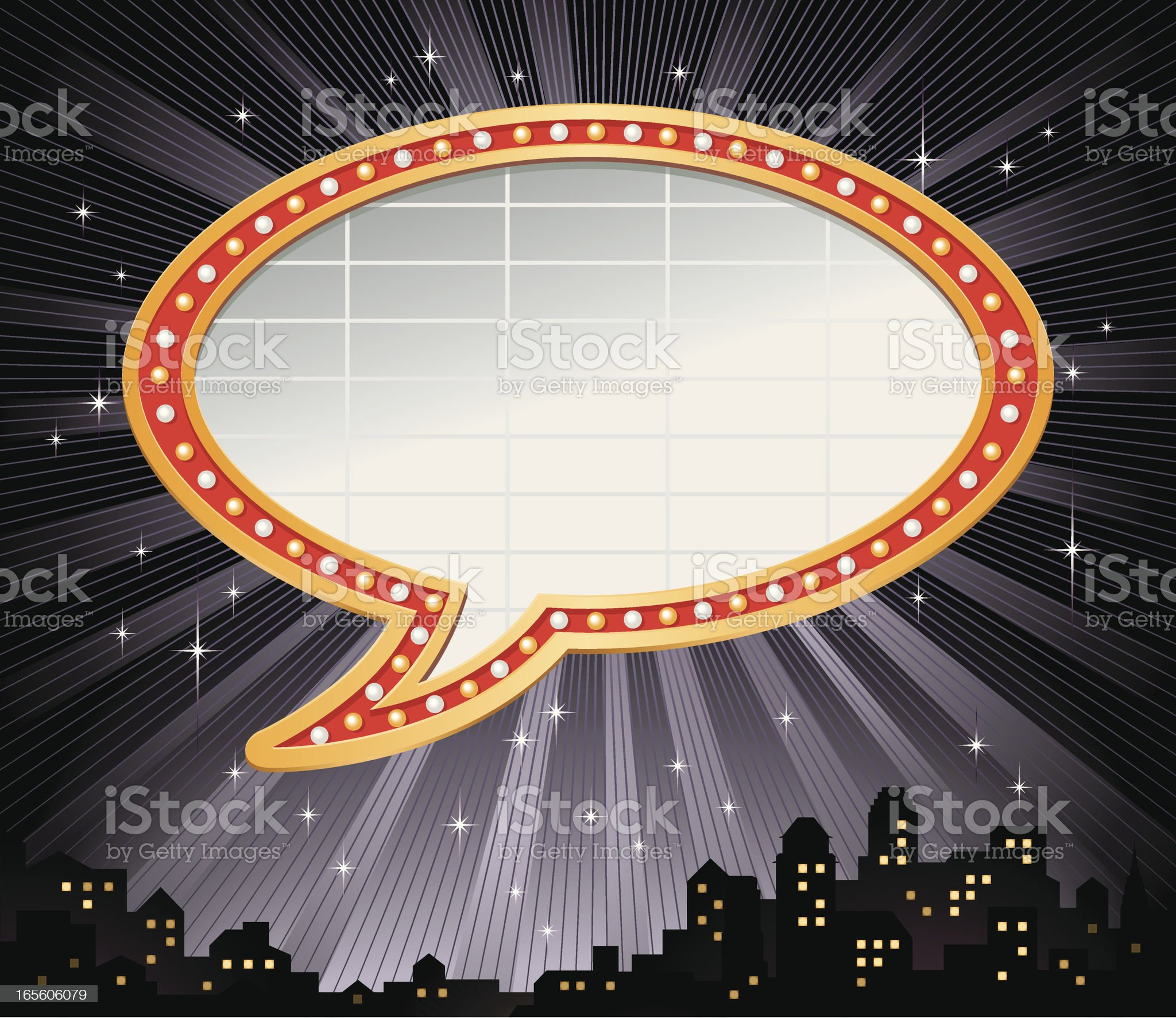 Talking Bubble Marquee Frame Vector royalty-free stock vector art