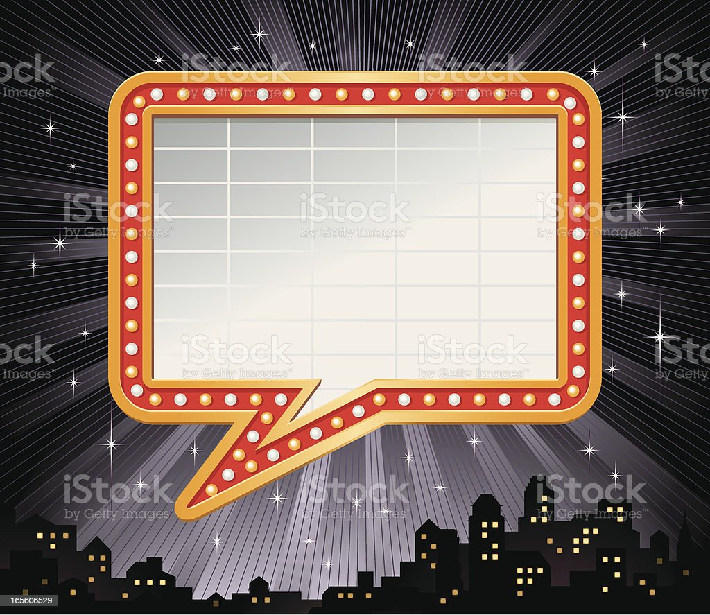 Talking Bubble Marquee Frame Vector vector art illustration