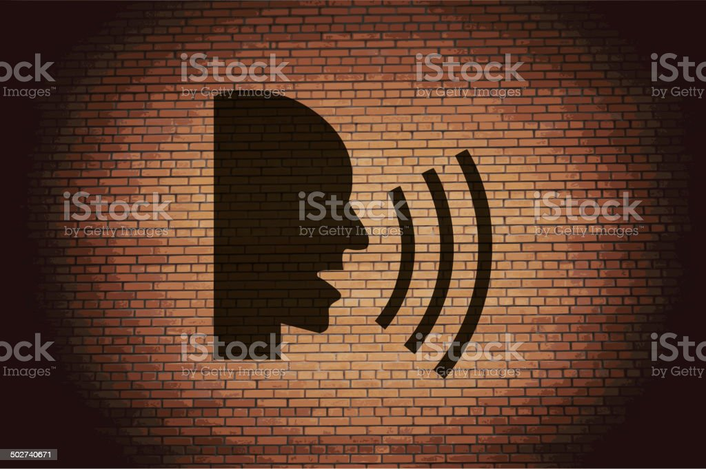 talking. Flat modern web button and space for your text. vector art illustration