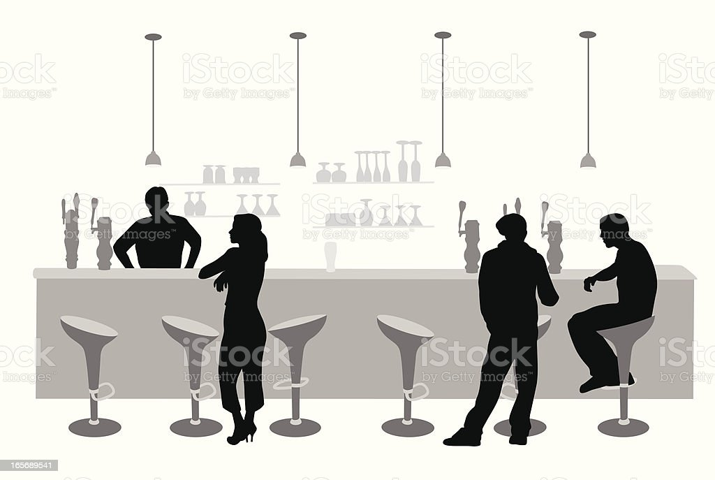 Talking Over Vector Silhouette royalty-free stock vector art