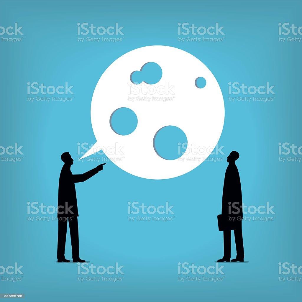 Talking vector art illustration
