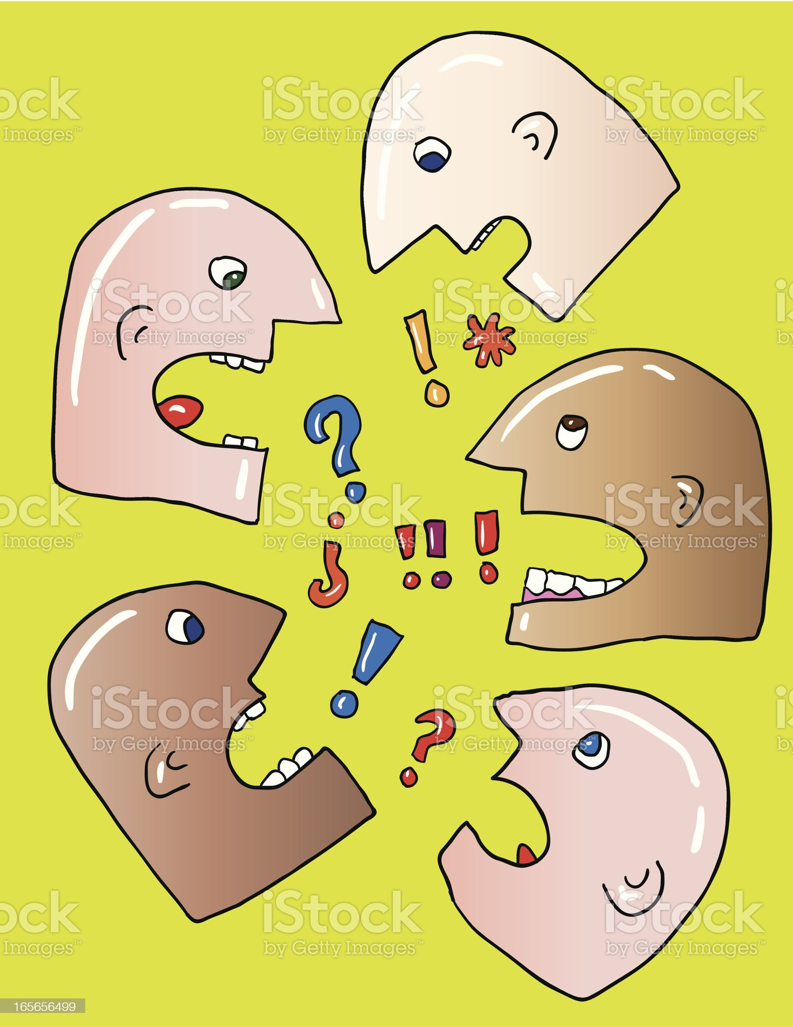 talkink heads royalty-free stock vector art