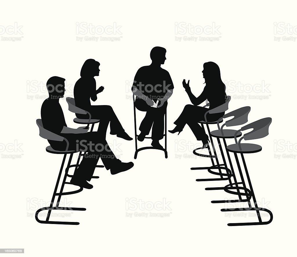 TalkShow vector art illustration