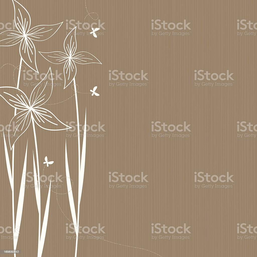Tall flowers royalty-free stock vector art