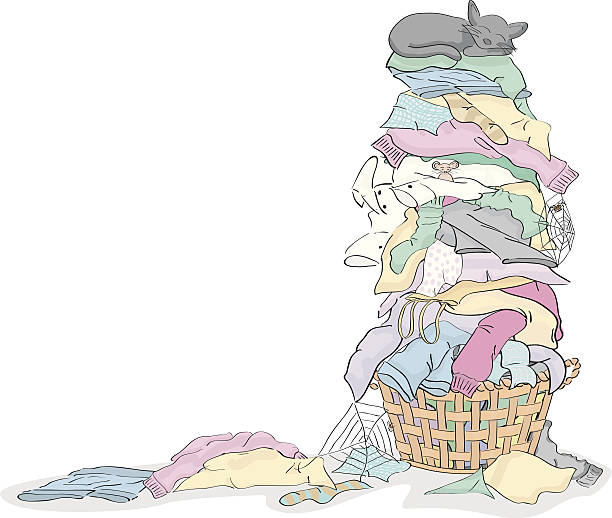 Silhouette Of Dirty Laundry Clip Art, Vector Images ...